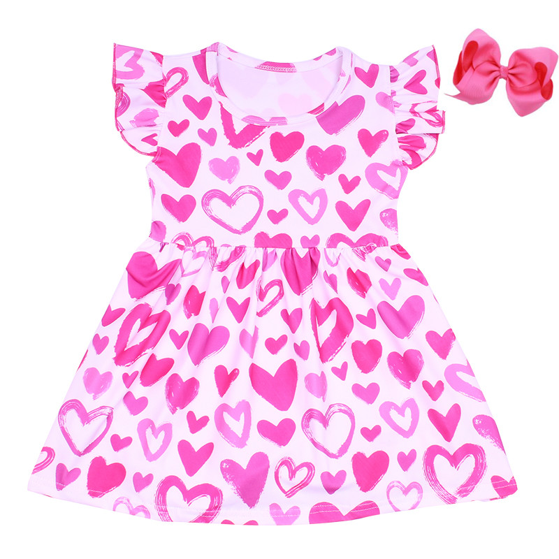 2020 Valentines Kids Clothes New Design Normal Frock Design For