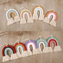 Rainbow-Tapestry Room-Decoration Color-Ornaments Wall-Hanging Home-Weaving Nordic Children's
