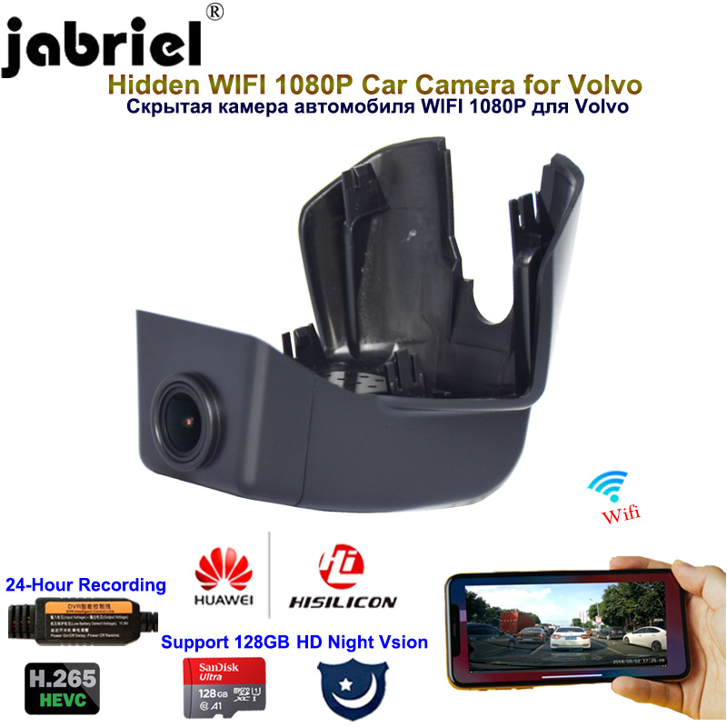 Jabriel 1080P Hidden Wifi dash camera car camera car dvr for Volvo xc90 T5 T6 T8 2015 2016 2017 2018 2019 2020 Night vision image
