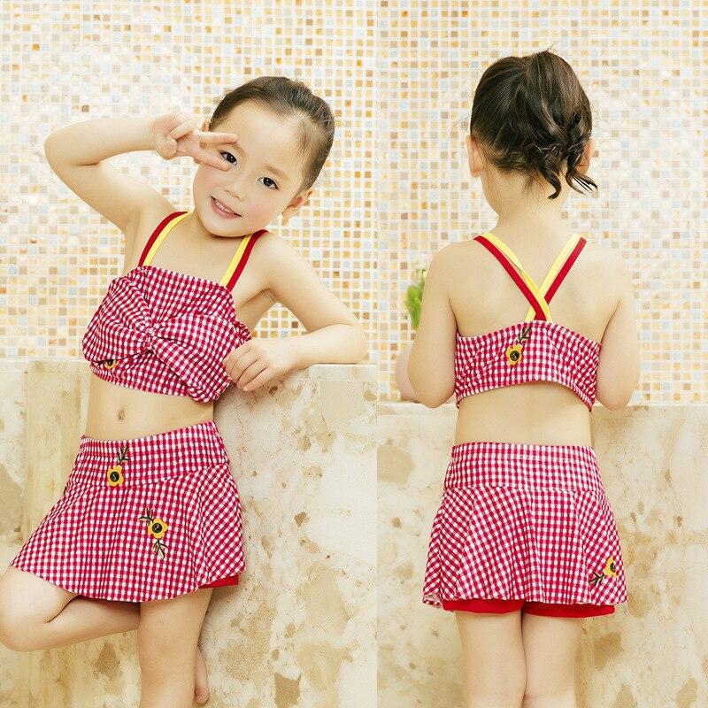 Girl'S Swimsuit Split Type-Skirt Baby-Swimming Trunks Kids Children Tour Bathing Suit Swimwear CHILDREN'S Bikini