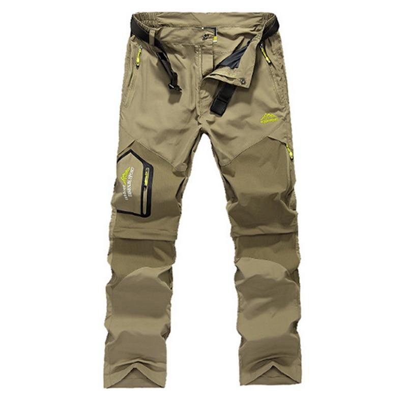 Men Stretch Waterproof Camping Hiking Pants Outdoor Sport Trousers Trekking Mountain Climbing Fishing Plue Size 6XL