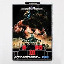 Rabo 3 com caixa para 16 bit cartão de jogo de vídeo md para sega mega drive/genesis