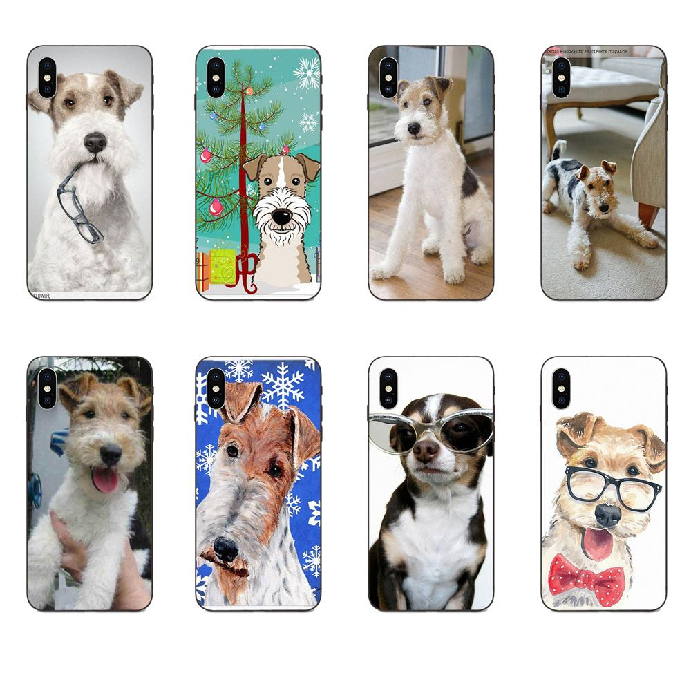 <font><b>Wire</b></font> Fox Terrier With Glasses For Galaxy C5 C7 J1 J2 J3 J330 J5 J6 J7 J730 M20 M30 Ace <font><b>Core</b></font> Max Mini Plus Prime Pro image