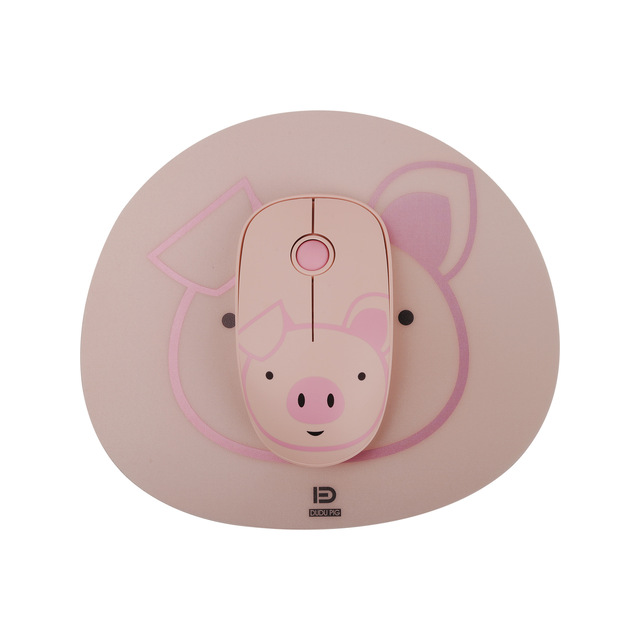 Brand New Wireless Mouse Computer Accessories Creative Novelty Pink Girl Optical Mouse Portable Mini Mute 2.4Ghz Gaming Mouse 3