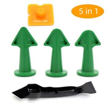 5Pcs Caulk Nozzle Scraper Set Reusable Sealant Angle Scraper Silicone Grout Caulk Tools 6.5R/10R/13R