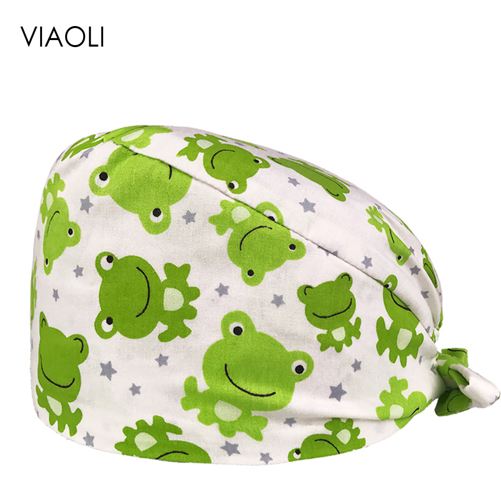 VIAOLI Men Women Medical Scrubs Pharmacy Work Cap Surgery Nurse Hat Oral Cavity Dental Clinic Pet Veterinary Surgical Cap124