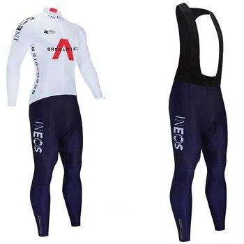 Ineos-Ropa deportiva de invierno para equipo de Ciclismo, pantalón térmico de lana,...