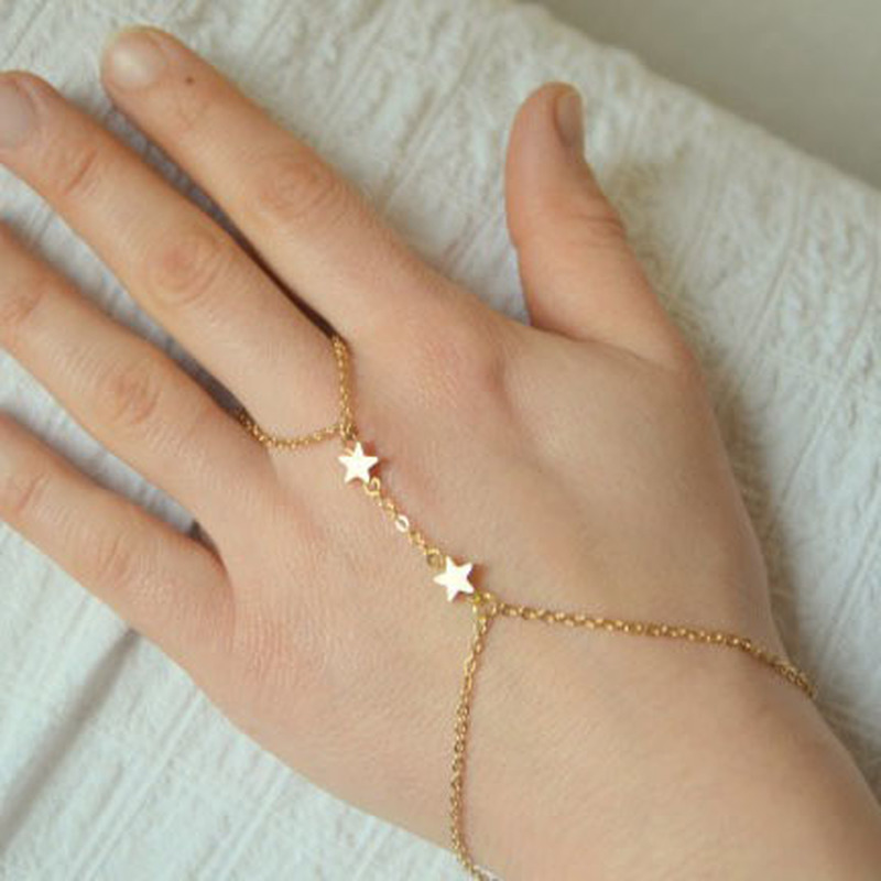 HebeDeer Star Charms Bracelets Women Tassel Bracelet Girl European Rose Gold Color Fashion Jewelry Bohemia Zinc Alloy Armband