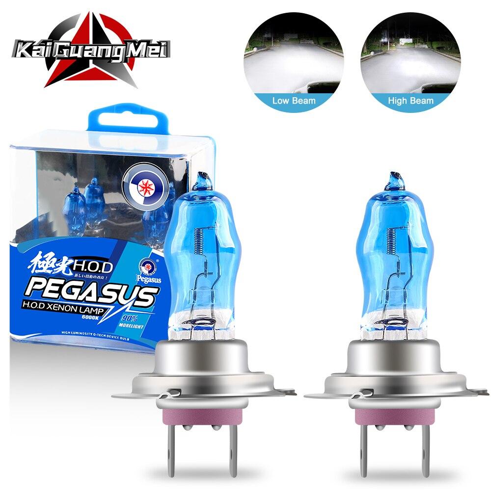 2PCS Halogen Xenon Light Bulbs 100W H1 H3 H4 H7 H8 H11 9005 9006 White 6000K 12V Car Headlight Fog Light Lamp Replacement