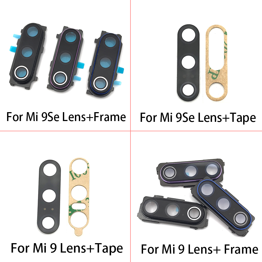 2Pcs/Lot Back Rear <font><b>Camera</b></font> <font><b>Glass</b></font> Lens Cover With Adhesive For Xiaomi Mi9 <font><b>Mi</b></font> 9 Se A1 5X <font><b>A2</b></font> 6X 6 5 5S Plus Note 10 7 8 Pro image