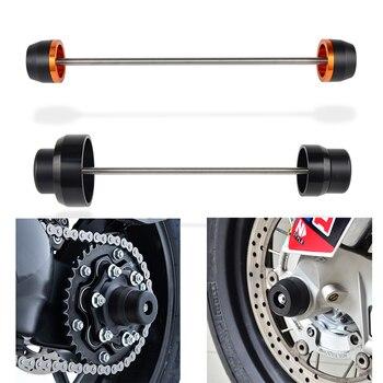 Motorcycle Front & Rear Wheel Axle Fork Crash Sliders Protector Guard Aluminum For KTM 1290 SUPER DUKE GT R 2020 2019 2018 2017
