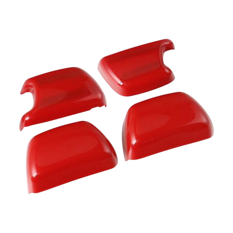 CITALL 4PCS Red Seat Safety Belt Side Button Cover Trim Decoration Fit for Jeep Wrangler JK 2008 209 2010 2011 2012 2013 -2016