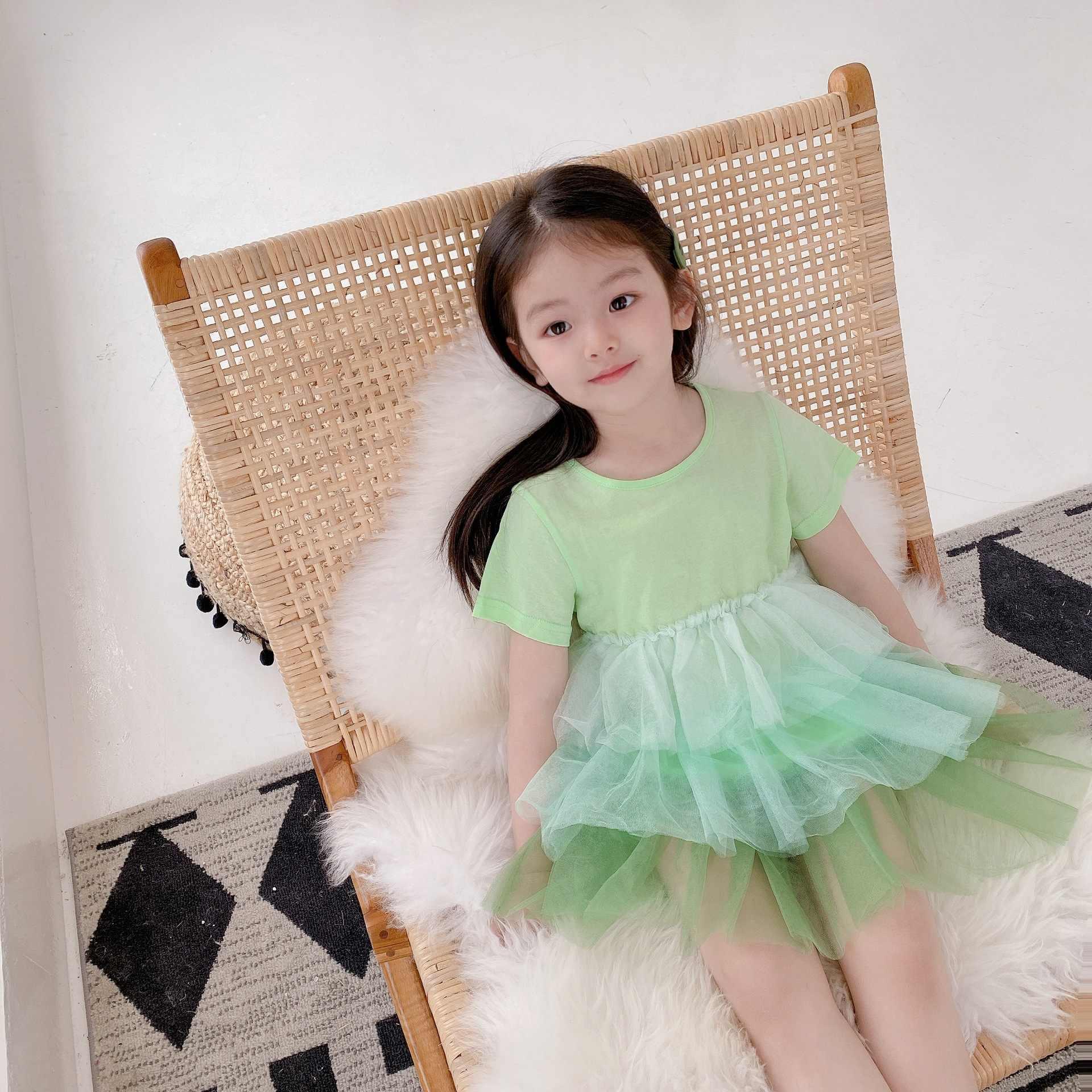 2020 Presell אפריל 10th קיץ בנות שמלה סגול ירוק ילדים איחה עיצוב טוטו שמלה