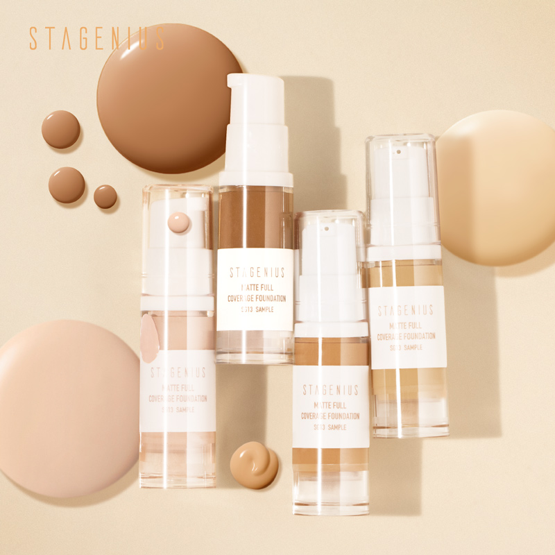 STAGENIUS Face Foundation Stick Makeup Oil-control Full Coverage Liquid Moisturizing Concealer Waterproof Base Foundation