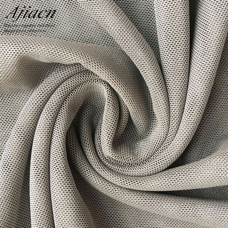 Electromagnetic Radiation Protection Silver Fiber Fabric NFC RF RFID Electromagnetic Shielding Material Silver Fiber Cloth