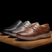 Туфли оксфорды мужские кожаные Классическая Повседневная обувь