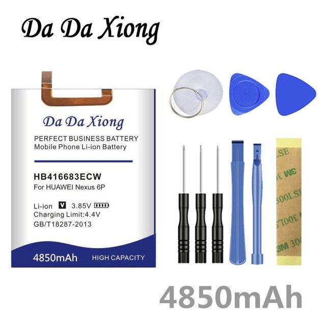דה דה Xiong 4850mAh HB416683ECW סוללה עבור Huawei Google Ascend נקסוס 6P H1511 H1512