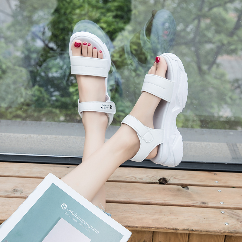 Women Platform Sandals Open Toe Wedge Shoes Ladies Comfortable Beach Sandals 2020 Summer Outdoor Casual Fashion Sandalias Mujer