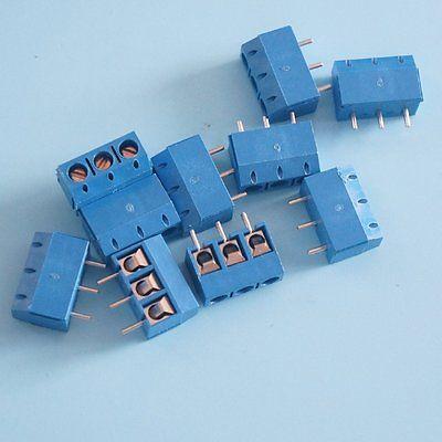 10pcs KF301-3P 5.08mm Blue Cont Terminal Blue Screw Terminal Contor Diy Electronics Diy Electronics