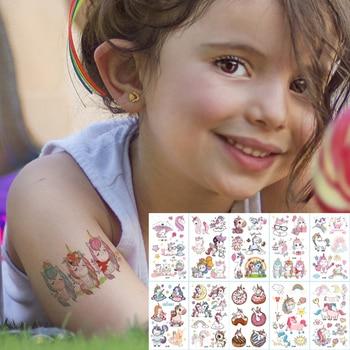 10pcs/lot color unicorn tattoo set face temporary tattoo child tattoo sticker body tatoo for kids cute tattoo children tattoos 1