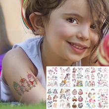 10 sztuk partia kolor jednorożec tatuaż zestaw twarzy tymczasowy tatuaż dziecko tatuaż naklejki tatuaż ciała dla dzieci słodkie tatuaż dzieci tatuaże tanie tanio Tattrendy 5 7cm*9 7cm Body painting Waterproof Once eco-friendly nontoxic Zhejiang China