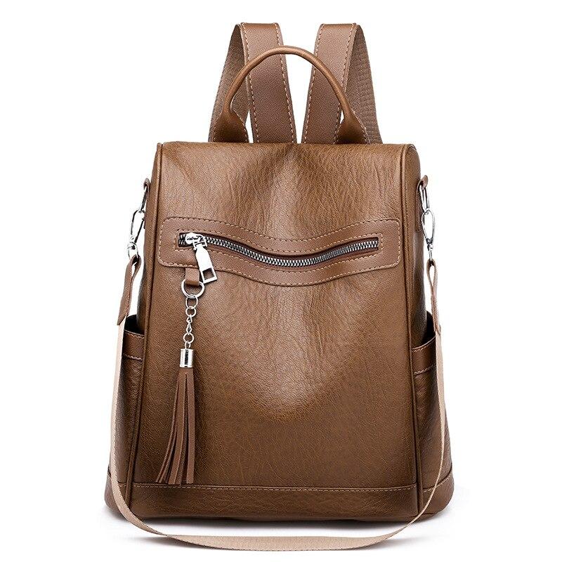 2020 новый рюкзак женский корейский стиль персонализированный Универсальный меховой шар большая Вместительная дорожная сумка легкая водонепроницаемая Студенческая-5