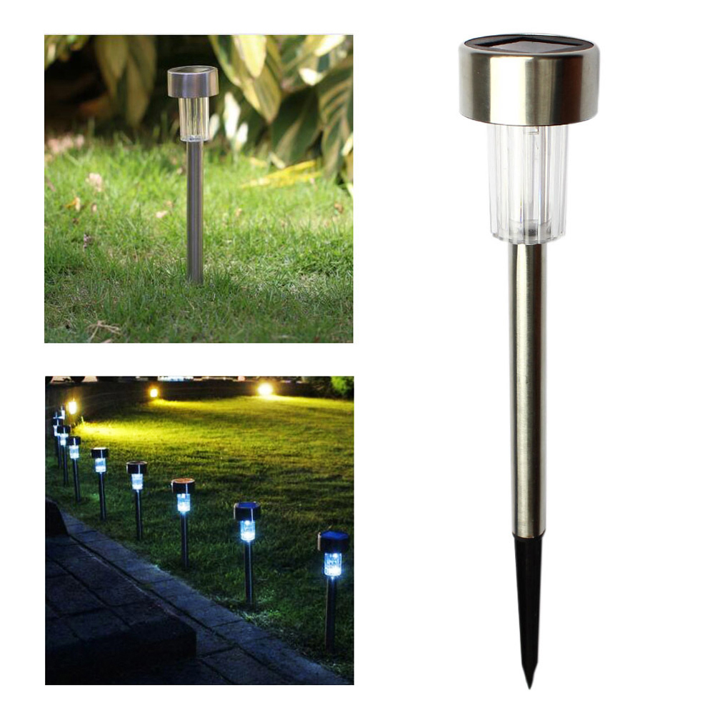 10pcs Waterproof LED Solar Lawn Lamp Garden Pathway Yard Bollard Light Stick Solar Street Lamp Garden Decoration