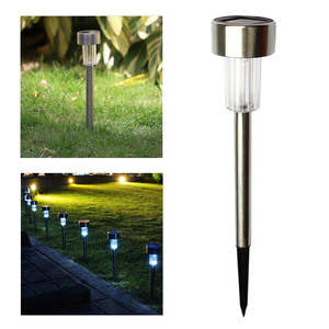 10pcs Waterproof LED Solar Lawn Lamp Garden Pathway Yard Bollard Light Stick Solar Street Lamp Garden Decoration(China)