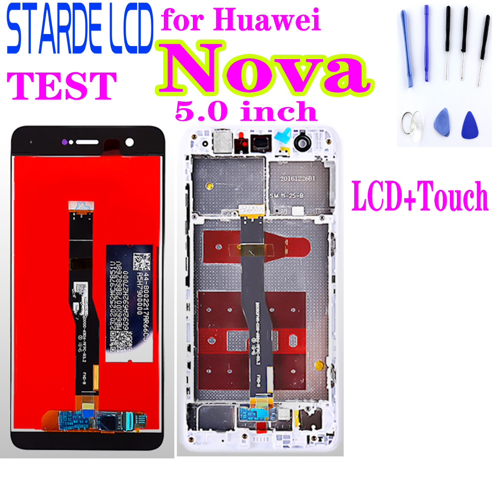 for Huawei Nova 5.0 inch LCD Display CAN L01Touch Screen Digitizer Assembly Frame with oleophobic coating 10 multi touch