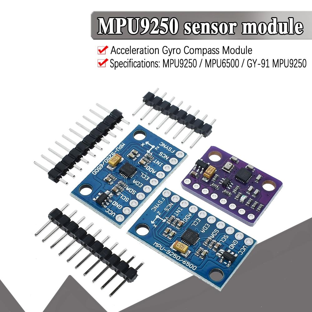 SPI/IIC GY-9250 BMP280 GY-91 MPU6500 MPU-9250 6-Axis 9-Axis 10DOF Attitude Gyro+Accelerator+Magnetometer Sensor Module MPU9250