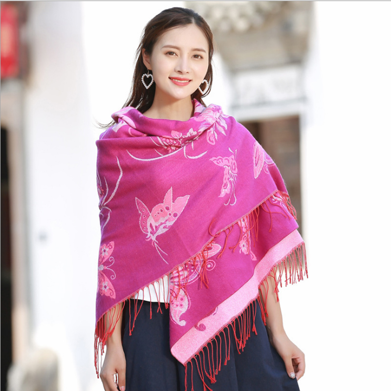 Wedding Evening Party Russian Retro Style Scarf Shawl Long Travel brushed wraps Oil Painting Cheongsam шарфы женские зимние