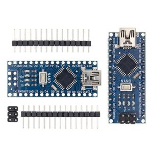 Image 1 - 100 pièces Nano 3.0 ATMEGA328P contrôleur compatible avec pour nano CH340 USB pilote 16Mhz pas de câble pour arduino
