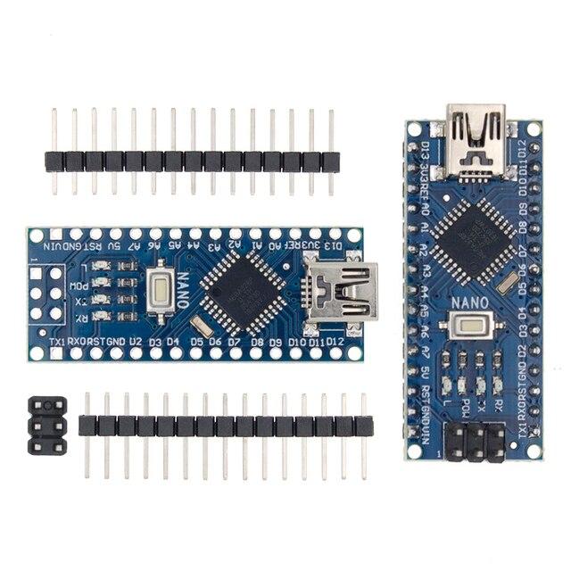 100 pièces Nano 3.0 ATMEGA328P contrôleur compatible avec pour nano CH340 USB pilote 16Mhz pas de câble pour arduino