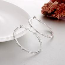 Круглые серьги кольца с кристаллами увеличенные личные большие