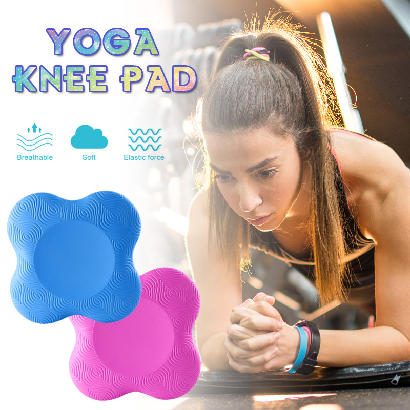 2pcs Yoga Knee Pads Cushion Mats Wrist Hips Hands Elbows Balance Support Protect Pad Fitness Exercise Sports Yoga Accessories