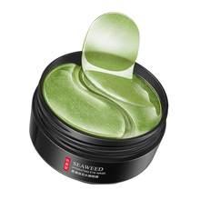 Masque pour les yeux aux algues vertes, autocollants nourrissants et hydratants pour les yeux, patchs de Gel anti-cernes, soins pour la peau, 60 pièces