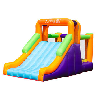 цена на Inflatable Bounce House Jumper Jump in Big Slide with Blower Bouncy Castle Indoor Backyard for Kids