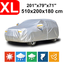 510x200x180 Universal SUV 190T Waterproof Car Covers Dust Rain Snow UV Protection For Toyota Land Cruiser Tour Ford Explorer