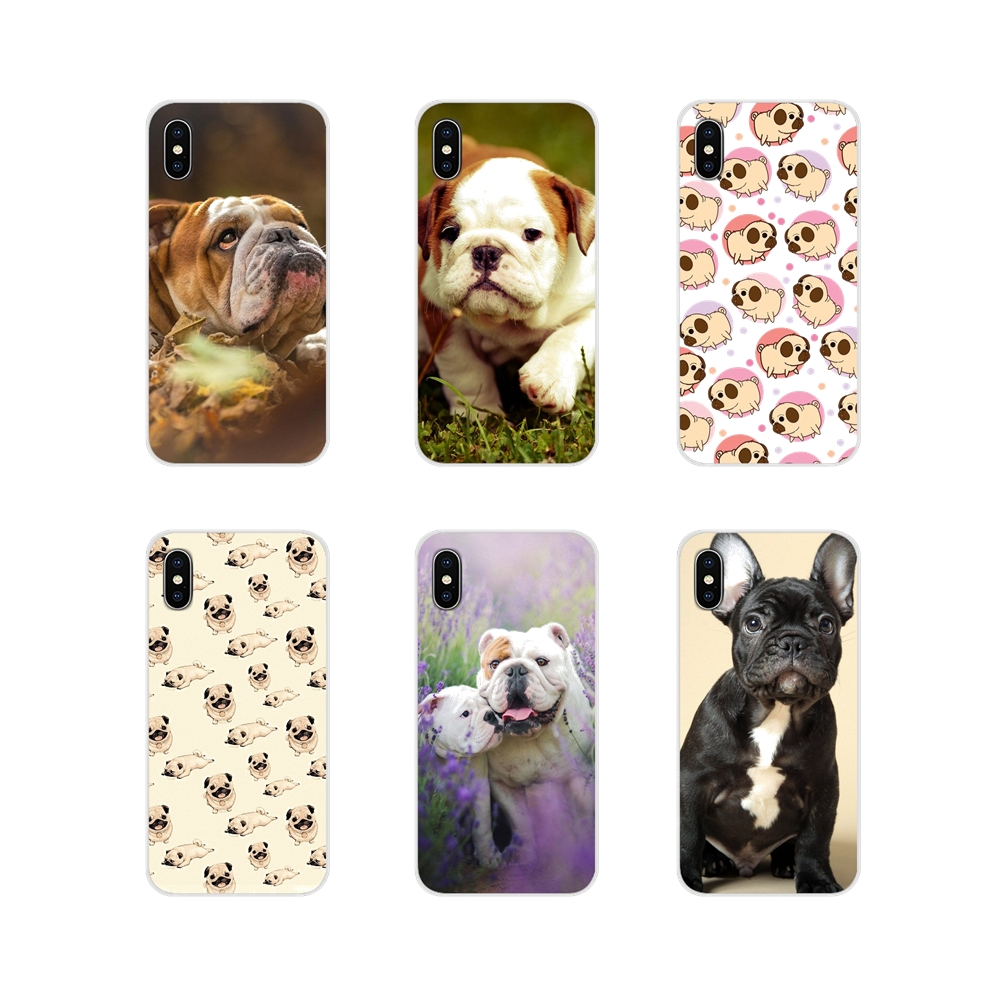 Cute <font><b>Dog</b></font> English Bulldog Soft Transparent Shell Covers For <font><b>Samsung</b></font> Galaxy J1 J2 J3 J4 J5 J6 <font><b>J7</b></font> J8 Plus 2018 Prime 2015 2016 2017 image