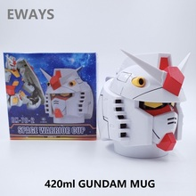 Ready Player One Creative GUNDAM RX-78 Transformation Robot 400ml PC + Stainless Steel Mugs Cup Office Water Cup