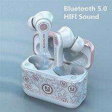 TS-100 tws sem fio bluetooth 5.0 fone de ouvido com microfone caixa carregamento jogo fones esporte para android pk i12 i90000