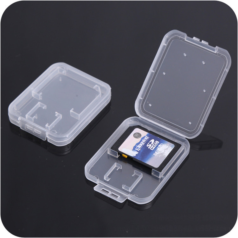 Image 3 - SD Card / TF Memory Card Storage Protection Box Camera Small White Box High grade Plastic Transparent Card Cases-in Memory Card Cases from Computer & Office