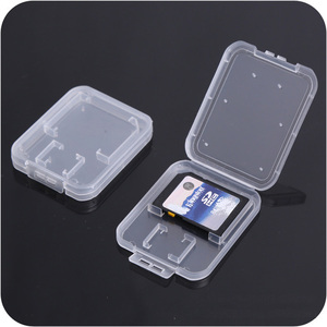Image 3 - SD Card / TF Memory Card Storage Protection Box Camera Small White Box High grade Plastic Transparent Card Cases