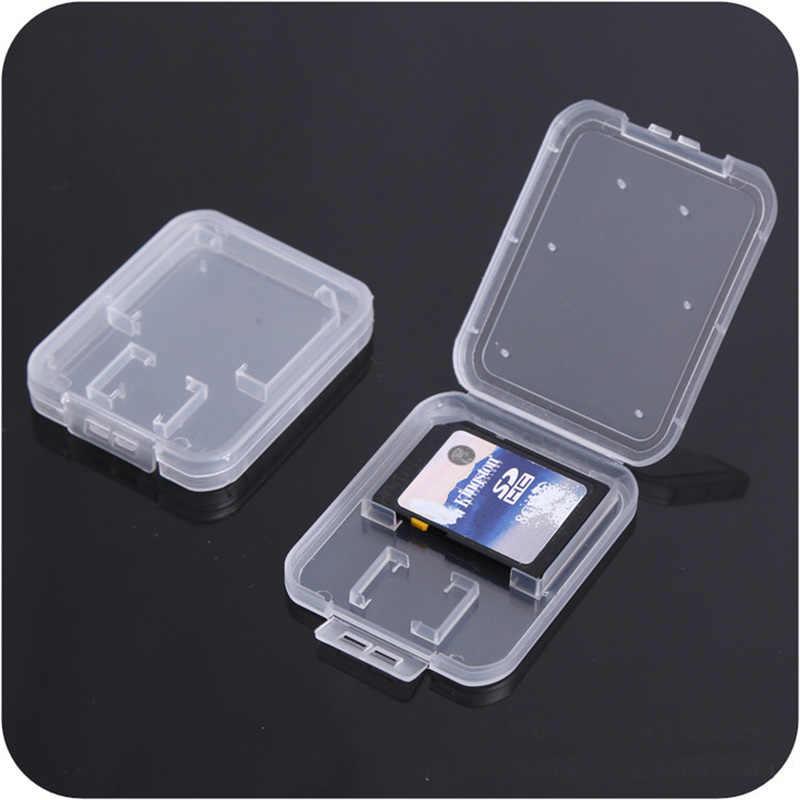 Sd-karte/TF Speicher Karte Lagerung Schutz Box Kamera Kleine Weiße Box High-grade Kunststoff Transparent Karte Fällen