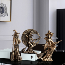 Witch Set Of 3pcs Resin Art Nordic Decoration Lliving Room Bar Count Home Accessories Home Decoration Ornamental Figurines