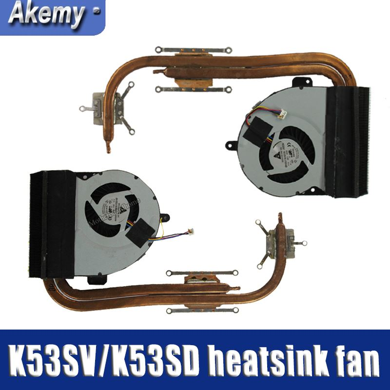 For Asus K53 X53 K53S A53S X53S K53SV K53SM K53SJ K53SC K53SD X54 X54H X54C K54C Laptop CPU Cooling Fan Radiator Heatsink Cooler