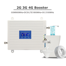 GSM Repeater 2G 3G 4G Cellphone Booster Tri Band Mobile Signal Amplifier LTE Cellular DCS WCDMA 900 1800 2100