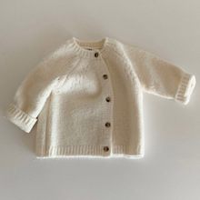 kids baby girls boys spring full sleeve solid single-breasted outwear Cardigan toddler children sweater coat 0-24M