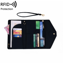 Pu Leather traval passport wallet women anti theft Card Holder Credit Card Case Organizer Wallet RFID Blocking card Wallet Purse cheap Long 160 g Polyester 11 5cm Solid England Style 1639 Interior Slot Pocket Interior Compartment Coin Pocket Passcard Pocket