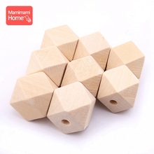 mamihome 10mm-20mm 100pcs Geometri Wood Beads baby teether DIY for Nursing Necklace gifts wooden blank rodent Children's goods цена 2017